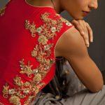 Zardosi Work on Blouse Back by Bhumika Sharma