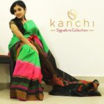 Green Kachipuram Saree with Wide MultiColour Border