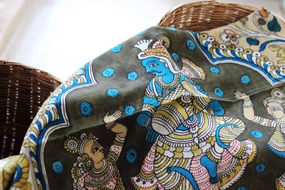hand painted kalamkari dupattas from Mairaa 1