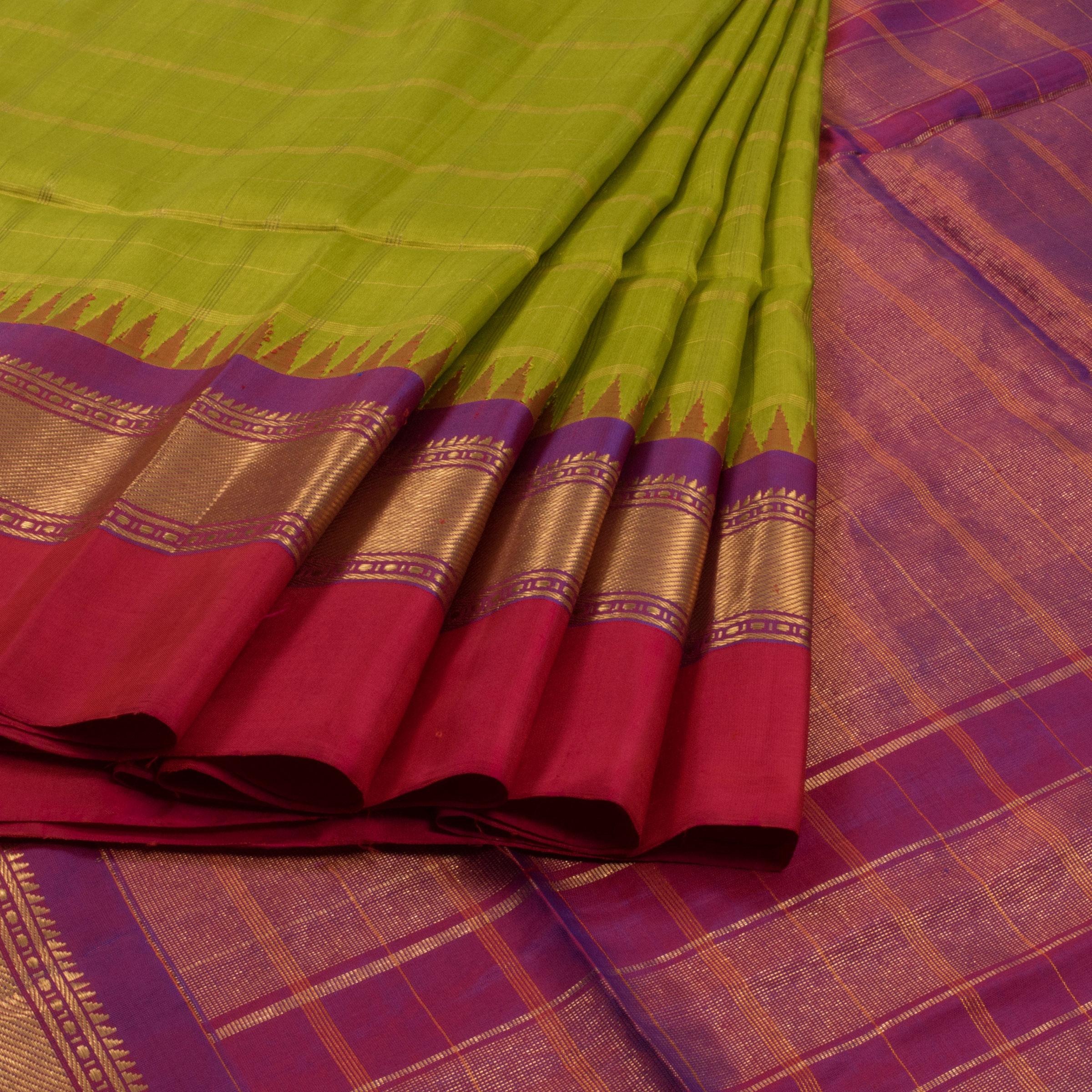 green gadwal pattu sarees from avishya venkie reddy