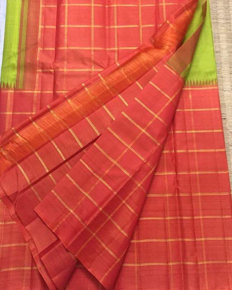 Light Mehandi Green Kanjivaram Silk saree from Eternal Weaves